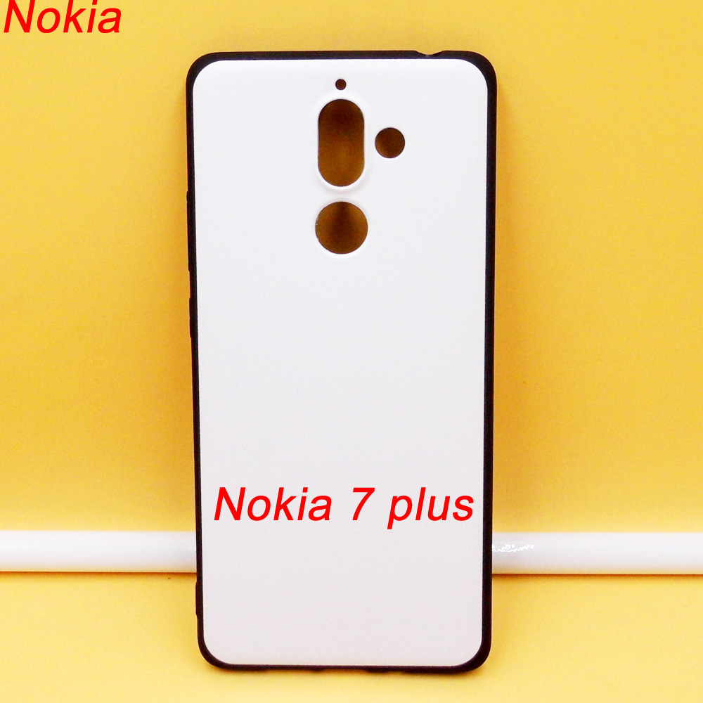 graphic relating to Printable Phone Case titled Nokia 7 Additionally tpu gentle cellular phone scenario with white printable again
